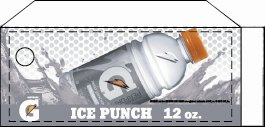 Small Gatorade Ice Punch 12 oz. Bottle Flavor Drink Labels