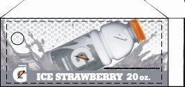 Small Gatorade Strawberry Ice Bottle Flavor Drink Labels