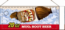 Small Mug Root Beer Bottle Flavor Drink Labels | Small Vending Machine Flavor Strips