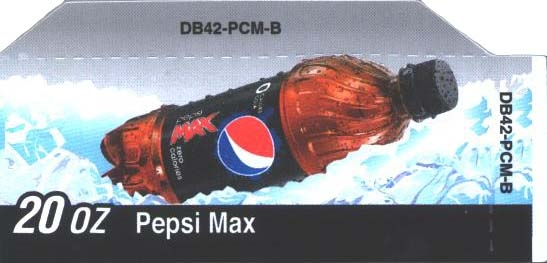 Small Pepsi Max Bottle Flavor Drink Labels | Small Vending Machine Flavor Strips