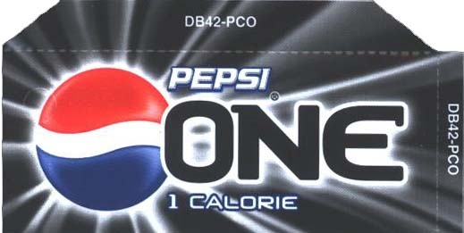 Small Pepsi One Line Art Flavor Drink Labels | Small Vending Machine Flavor Strips