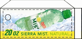 Small Sierra Mist Lemon Lime Bottle Flavor Drink Labels | Small Vending Machine Flavor Strips
