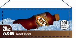 Small A&W Root Beer Legacy Bottle Flavor Drink Labels | Small Vending Machine Flavor Labels