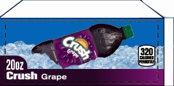 Small Crush Grape Bottle Flavor Drink Labels | Small Vending Machine Flavor Labels