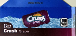 Small Crush Grape Can Flavor Drink Labels | Small Vending Machine Flavor Labels