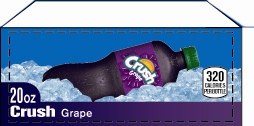 Small Crush Grape Legacy Bottle Flavor Drink Labels | Small Vending Machine Flavor Labels