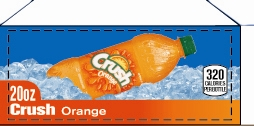 Small Crush Orange Bottle Flavor Drink Labels | Small Vending Machine Flavor Labels