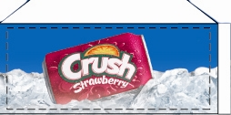 Small Crush Strawberry Can Flavor Drink Labels | Small Vending Machine Flavor Labels