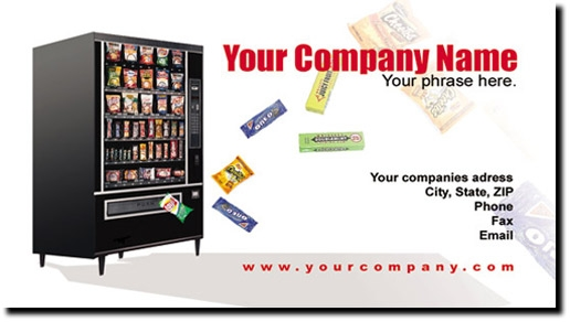 Vending Machine Route Business Cards