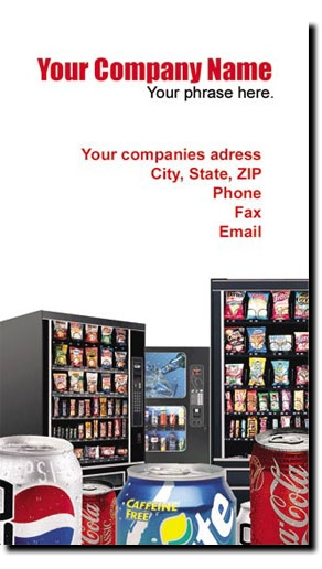 Vending machine business cards vertical snack soda full color vending machine business cards vertical snack soda full color route vending business cards colourmoves