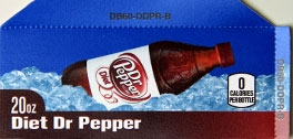 Small Diet Dr. Pepper Bottle Flavor Drink Labels | Small Vending Machine Flavor Labels