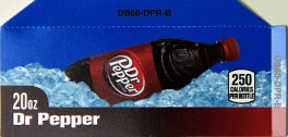 Small Dr. Pepper Bottle Flavor Drink Labels | Small Vending Machine Flavor Labels