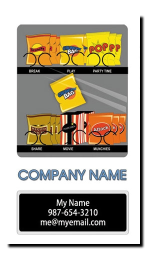 Snack Vending Machine Business Cards - Full Color Snack & Soda Route Vending Business Cards