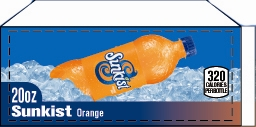Small Sunkist Orange Bottle Flavor Drink Labels | Small Vending Machine Flavor Labels