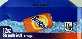 Small Sunkist Orange Can Flavor Drink Labels | Small Vending Machine Flavor Labels