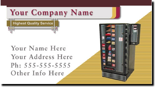 Vending Route Business Cards - Vending Machine Business Cards in Full Color