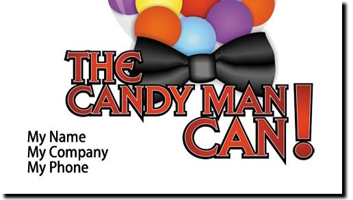Bulk Candy Vending Candy Man Business Cards - Full Color Candy Man Business Cards