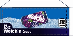 Small Welch's Grape Can Flavor Drink Labels | Small Vending Machine Flavor Labels