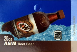 Large A&W Root Beer Bootle Drink Flavor Labels | A&W Root Beer Vending Machine Labels | Large A&W Root Beer Flavor Strips