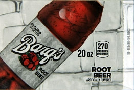 Large Barq's Root Beer Bottle Flavor Drink Labels | Large Vending Machine Flavor Strips