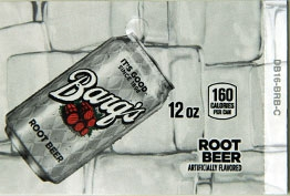 Large Barq's Root Beer Can Flavor Drink Labels | Large Vending Machine Flavor Strips