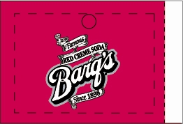 Large Barq's Red Creme Soda Line Art Drink Flavor Labels | Barq's Red Creme Soda Vending Machine Labels | Large Barq's Red Creme Soda Flavor Strips