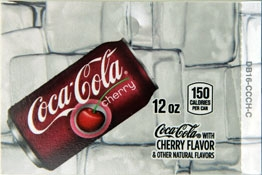 Large Cherry Coca-Cola Can Drink Flavor Labels | Cherry Coke Vending Machine Labels | Large Cherry Coke Flavor Strips