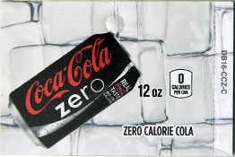 Large Coke Zero Can Flavor Drink Labels | Coke Zero Can Vending Machine Labels | Large Coke Zero Can Flavor Strips