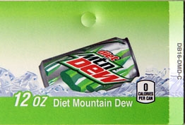 Large Diet Mountain Dew Can Flavor Drink Labels | Diet Mountain Dew Can Vending Machine Labels | Large Diet Mountain Dew Can Flavor Strips