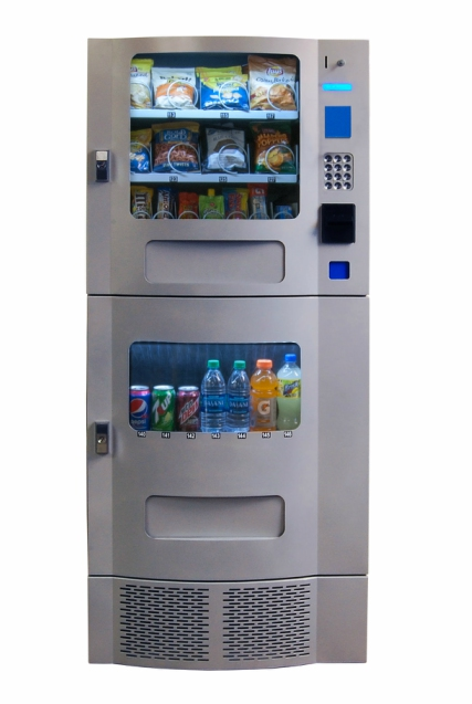Snak Mart SM-23 Silver Combo Vending Machines | Snack and Soda Combo Machines | Free Shipping on These Combos
