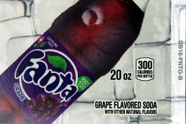 Large Fanta Grape Bottle Flavor Drink Labels | Fanta Grape Bottle Vending Machine Labels | Large Fanta Grape Bottle Flavor Strips