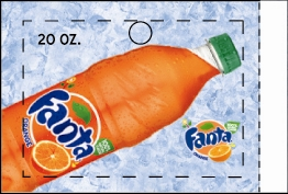 Large Fanta Orange Bottle Flavor Drink Labels | Fanta Orange Bottle Vending Machine Labels | Large Fanta Orange Bottle Flavor Strips