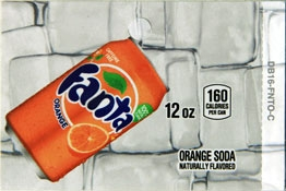 Large Fanta Orange Can Flavor Drink Labels | Fanta Orange Can Vending Machine Labels | Large Fanta Orange Can Flavor Strips