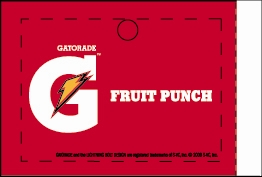 Large Gatorade Fruit Punch Line Art Flavor Drink Labels | Gatorade Fruit Punch Line Art Vending Machine Labels | Large Gatorade Fruit Punch Line Art Flavor Strips
