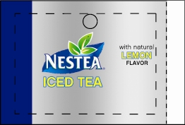 Large Nestea Iced Tea Lemon Line Art Flavor Drink Labels | Large Vending Machine Strips