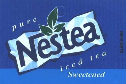 Large Nestea Iced Tea Sweetened Line Art Flavor Drink Labels | Large Vending Machine Strips