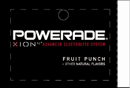 Large Powerade Ion Fruit Punch Line Art Flavor Drink Labels | Large Vending Machine Strips