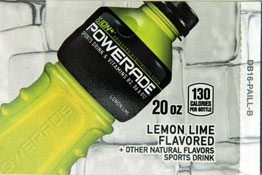 Large Powerade Ion  Lemon Lime Bottle Flavor Drink Labels | Large Vending Machine Strips