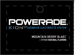 Large Powerade Ion Mountain Berry Blast Flavor Drink Labels | Large Vending Machine Strips