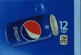 Large Pepsi Can Flavor Drink Labels | Large Vending Machine Strips