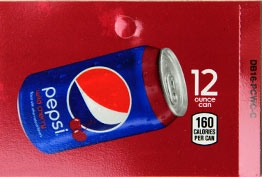 Large Pepsi Wild Cherry Can Vending Machine Labels | Large Vending Machine Flavor Strips