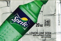 Large Sprite Bottle Flavor Drink Labels | Large Vending Machine Flavor Strips