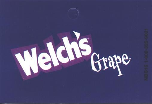 Large Welch's Grape Line Art Flavor Drink Labels | Large Vending Machine Flavor Strips