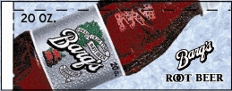 Small Barq's Root Beer Bottle Flavor Drink Labels | Small Vending Machine Flavor Strips