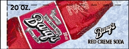 Small Barq's Red Creme Soda Bottle Flavor Drink Labels | Small Vending Machine Flavor Strips