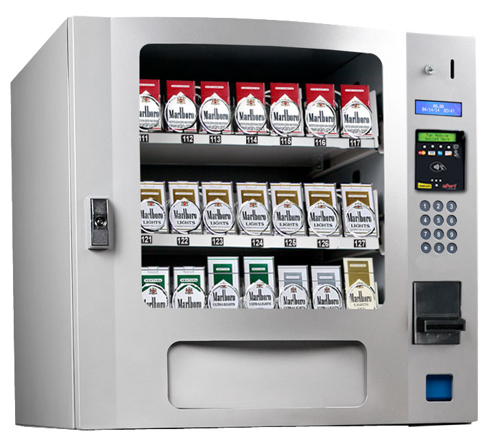 CIG 24 Selection Tobacco Machines | 24 Select SILVER Tobacco Machines | CIG-24 Table Top Glass Front Tobacco Machine