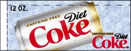 Small Caffeine Free Diet Coke Can Flavor Drink Labels | Small Vending Machine Flavor Strips