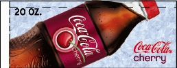 Small Coca Cola Cherry Bottle Flavor Drink Labels | Small Vending Machine Flavor Strips