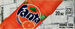 Small Fanta Orange Bottle Flavor Drink Labels | Small Vending Machine Flavor Strips