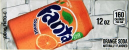 Small Fanta Orange Can Flavor Drink Labels | Small Vending Machine Flavor Strips